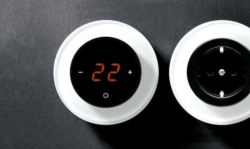 Дизайнеское решение с терморегулятором AURA Rondo