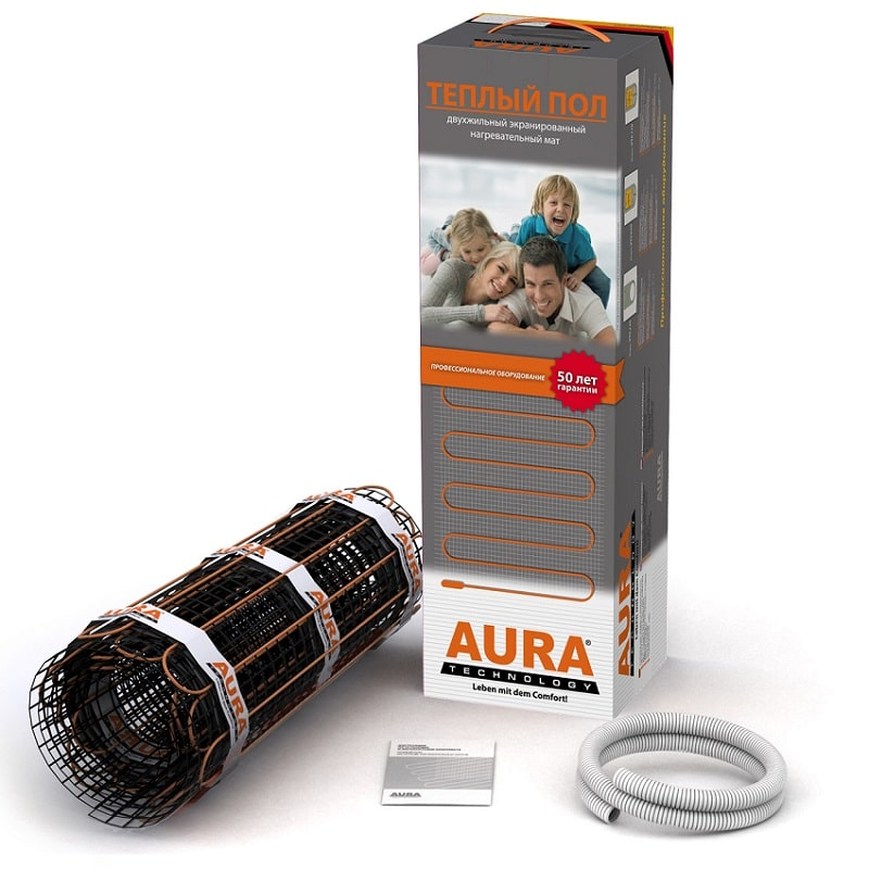 Теплый пол в матах AURA Heating МТА 450-3м2