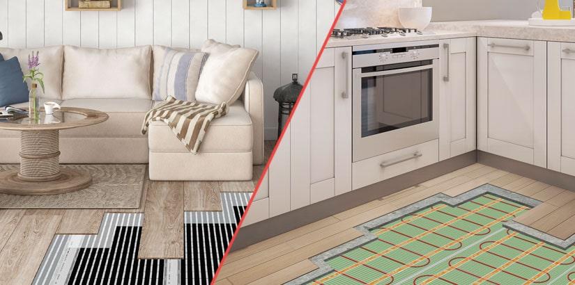 Электрические теплые полы под мебелью